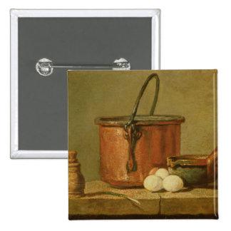 Todavía vida de utensilios de cocinar, caldera pin cuadrada 5 cm