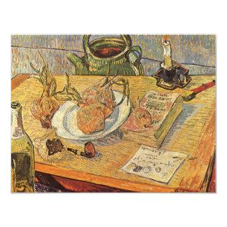 """Todavía vida de Vincent van Gogh, bella arte del Invitación 4.25"""" X 5.5"""""""
