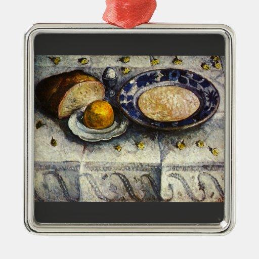 Todavía vida en la mesa de desayuno de Modersohn-B Adornos De Navidad