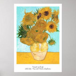 Todavía vida - florero con doce girasoles Van Gogh Impresiones