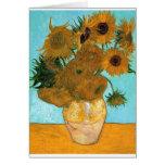 Todavía vida: Girasoles - Vincent van Gogh Tarjeta De Felicitación