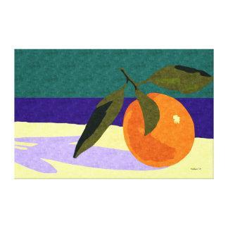 Todavía vida: Naranja en la playa californiana, ar Impresiones En Lona