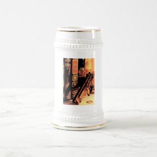 Todavía vida para los espías jarra de cerveza