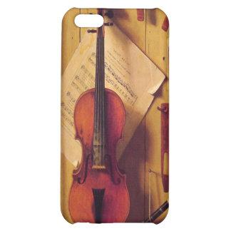 Todavía violín y música de la vida