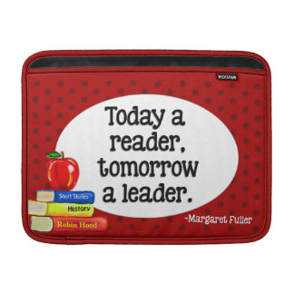 Today  A Reader Tomorrow A Leader Red Polka Dots MacBook Air Sleeve