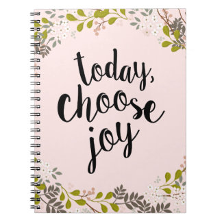 Today, Choose Joy Natural Woodland Floral Notebook