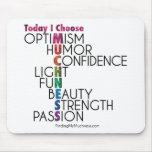 Today, Choose MUCHNESS, Glitter inspirational art Mouse Pad