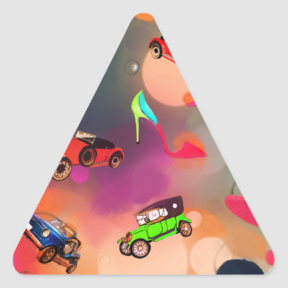 Today everything is trendy. triangle sticker