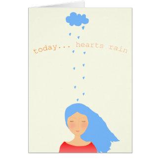 Today...hearts rain! card
