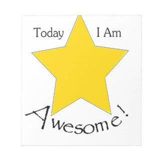 Today I Am Awesome merchandise Notepad