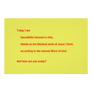 Today I am blessed Poster
