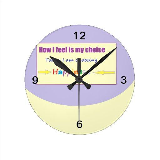Today I am Choosing Happiness Clocks