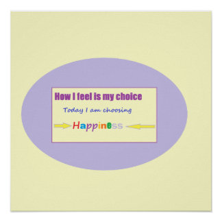 Today I am Choosing Happiness Poster