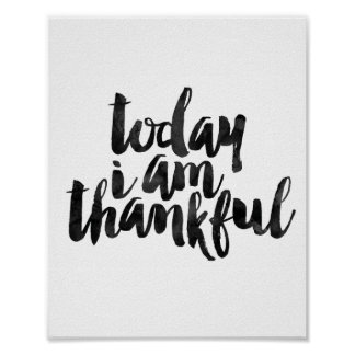 Today I Am Thankful Poster