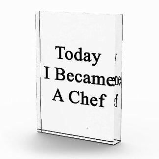 Today I Became A Chef Acrylic Award