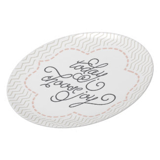 Today I Choose Joy Decorative Plate