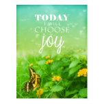 Today I Choose Joy Post Card