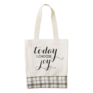 Today I Choose Joy Quote Tote