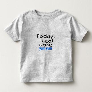 Today I Eat Cake Yum Yum (blue) Toddler T-shirt