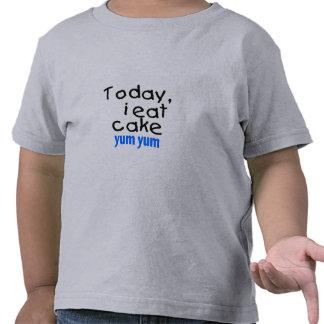 Today I Eat Cake Yum Yum (blue) Shirts