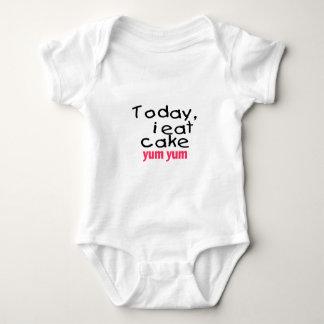 Today I Eat Cake Yum Yum (pink) Baby Bodysuit