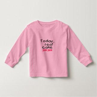 Today I Eat Cake Yum Yum (pink) Toddler T-shirt