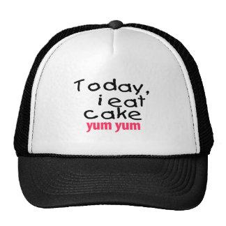 Today I Eat Cake Yum Yum (pink) Trucker Hat