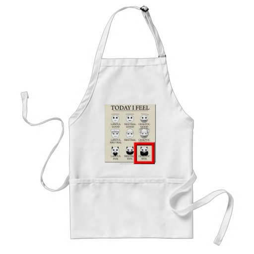 Today I Feel Chaotic Evil Adult Apron