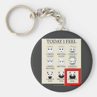 Today I Feel Chaotic Evil Keychain