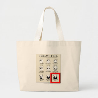 Today I Feel Chaotic Evil Large Tote Bag