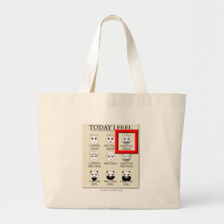 Today I Feel Chaotic Good Large Tote Bag