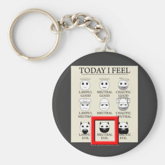 Today I Feel Neutral Evil Keychain
