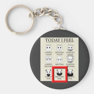 Today I Feel Neutral Evil Key Chain