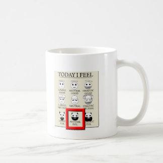 Today I Feel Neutral Evil Coffee Mugs