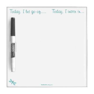 Today I let go of invite in Dry Erase Board