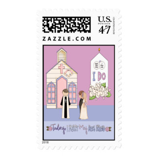 Today I Marry My Best Friend Postage Stamp