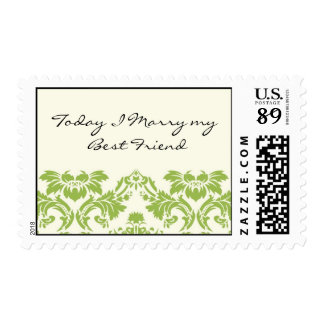 Today I Marry my Best Friend Wedding Stamp