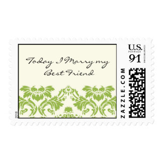 Today I Marry my Best Friend Wedding Stamp