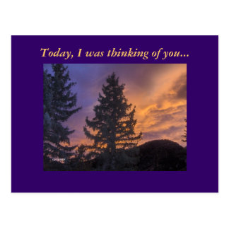 Today, I was thinking of you... Postcard