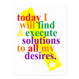 Today I will find & execute solutions Postcard