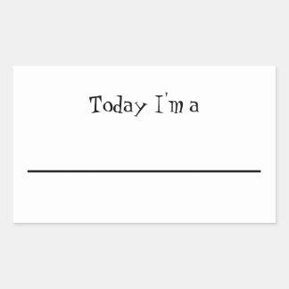 """Today I'm a..."" Pretend Play Sticker"