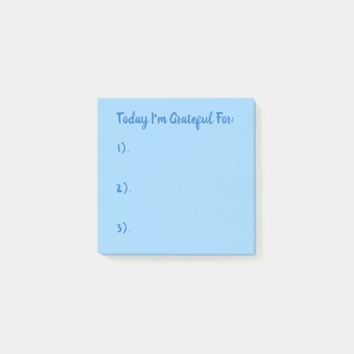 Today I'm Grateful For Blue On Blue Post-it Notes