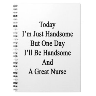 Today I'm Just Handsome But One Day I'll Be Handso Spiral Note Books