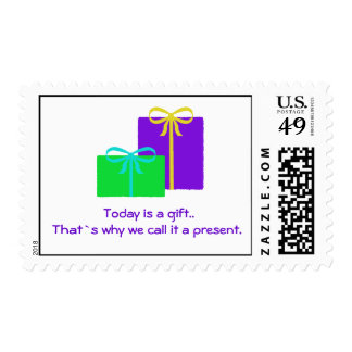 Today Is A Gift - Postage Stamps