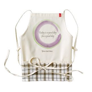 """Today is a good day for a good day"" Zazzle HEART Apron"