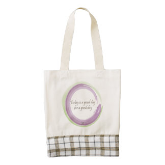 """Today is a good day for a good day"" Zazzle HEART Tote Bag"
