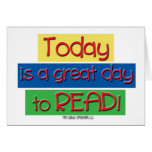 Today is a great day to read. stationery note card