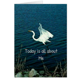 """Today Is All About Me"" Funny Quote Card"