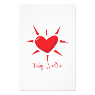 Today is Love Custom Stationery