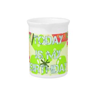 Today is My Birthday Beverage Pitcher